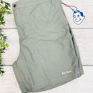 NEW Mr. Swim Grey Men's Swim Trunks XL